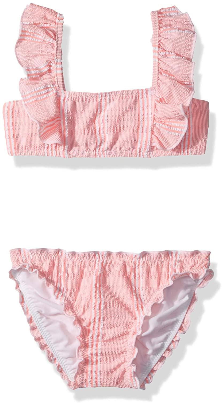 Seafolly Girls' Little Ruffle Shoulder Tube Tankini Swimsuit Set