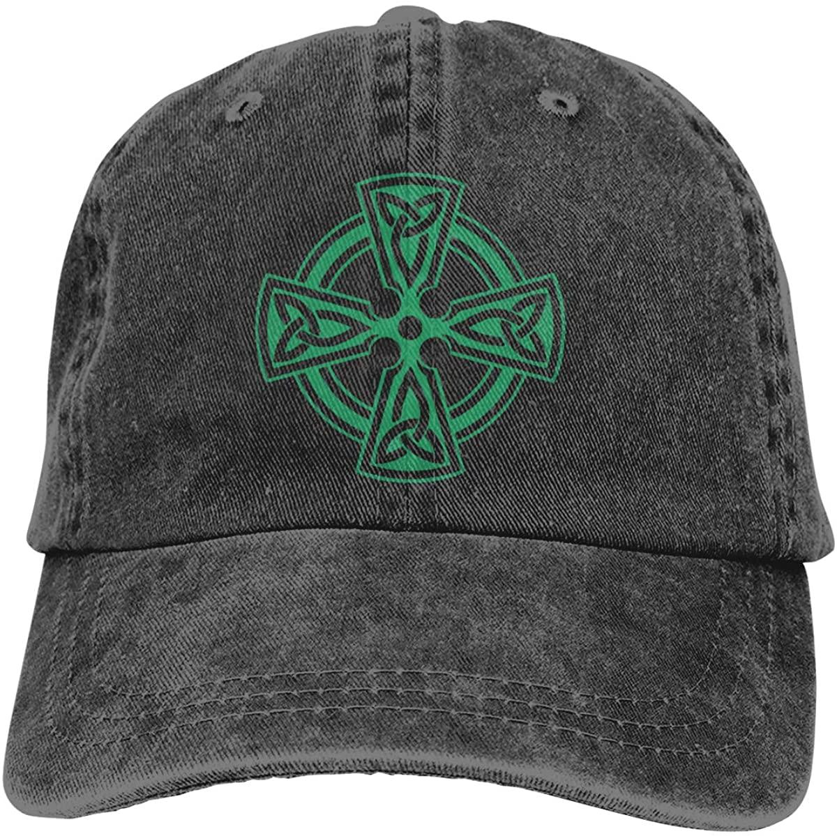 Celtic Cross Knot Irish Shield Warrior Unisex Classic American Style Printing Adjustable Denim Cowboy Hat