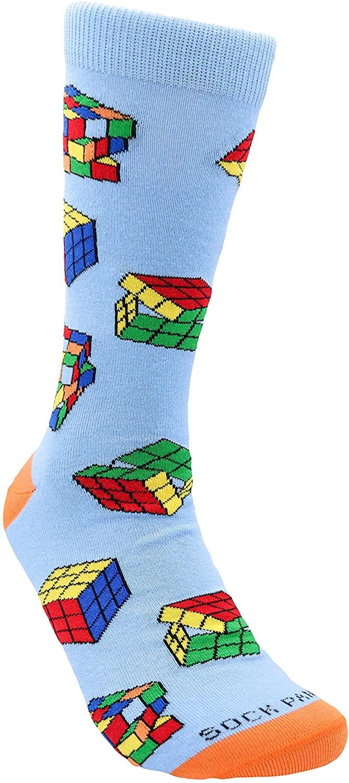 Fun Puzzle Cube Socks for Men from the Sock Panda