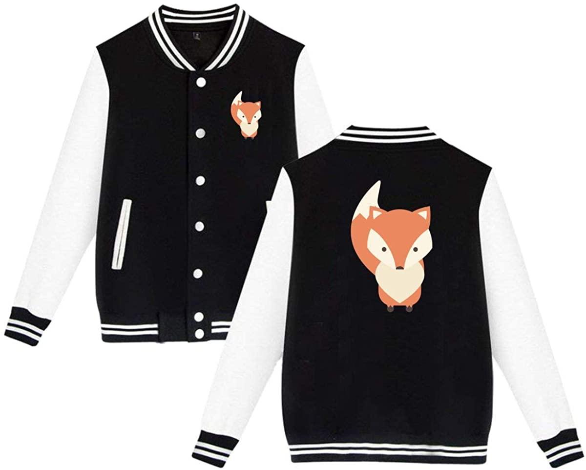 Unisex Varsity Jacket Fox Baseball Letterman Jackets Sport Coats