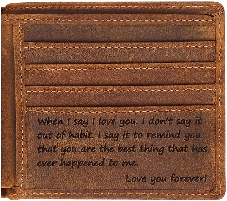 Engraved Personalized Wallet For Men - Gift For Boyfriend, Husband
