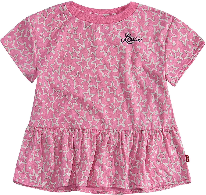 Levi's Girls' Graphic T-Shirt, Sachet Pink, 6