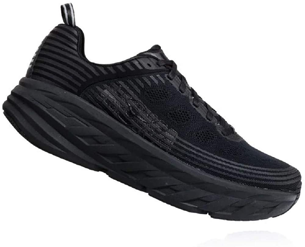 HOKA ONE ONE Bondi 6 Mens Running Shoes Black/White 1019269-BLK (Size: 11)