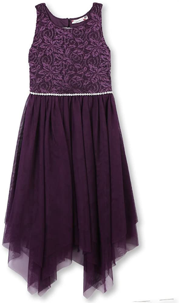 Speechless Girls' Big Sparkle Waist Party Dress with Fairy Skirt