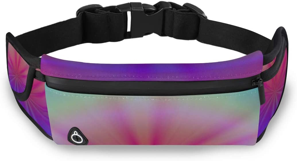 Spiritual Balance Zen Relaxation Rest Bag For Girls Fashion Waist Bag Kids Waist Travel Pack With Adjustable Strap For Workout Traveling Running