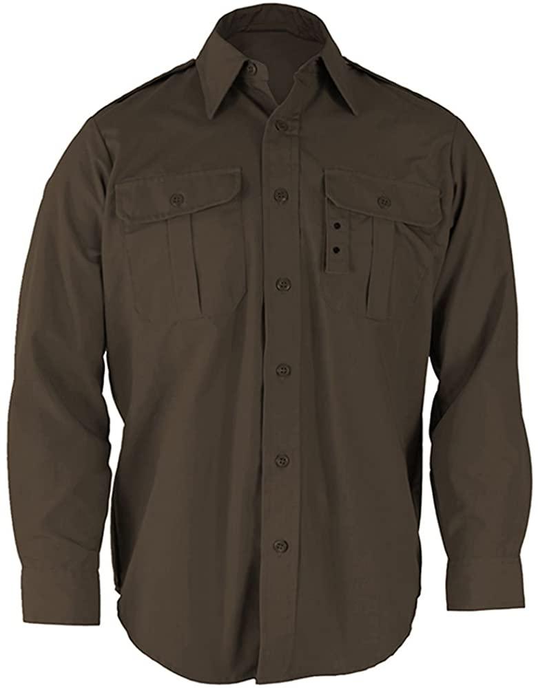 Propper Men's Long Sleeve Tactical Dress Shirt, Sheriff's Brown, Large Regular