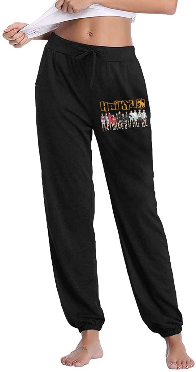 Amy J Nace Haikyuu Comfortable Women's Pocket Casual Drawstring Waist Long Track Pants