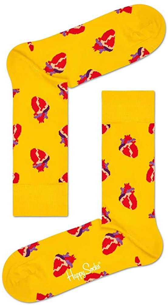 Happy Socks Unisex True Love Anatomical Heart Crew Socks (One Pair)