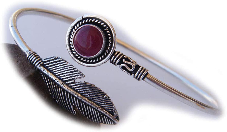 Surbhi Crafts Pink Jade Bracelet, Handmade Silver Plated Cuff Bangle Bracelet, Bangle Bracelet, Adjustable Bracelet AH-13470