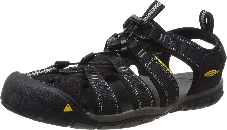 KEEN Men's Clearwater CNX Sandal,Black/Gargoyle,8 M US