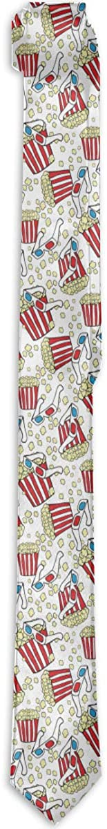 Popcorn Time Mens & Boys Tie Fashion Necktie Classic Slim Neck Ties
