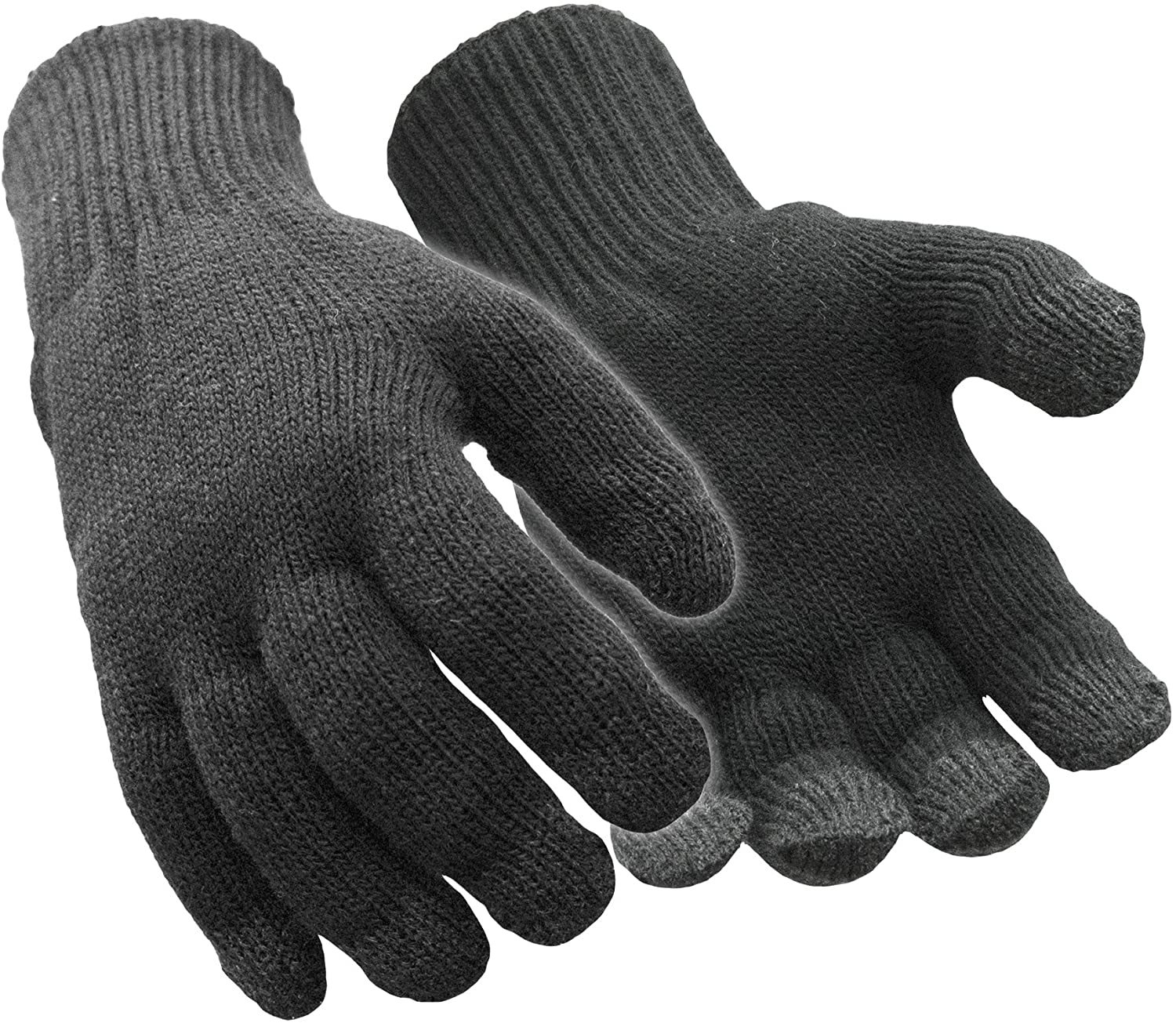 RefrigiWear Warm Dual Layer Thermal Lined Acrylic Stretch Knit Touchscreen Compatible Gloves
