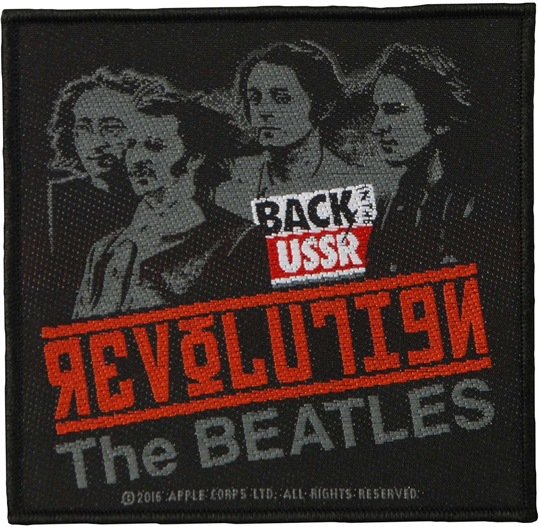 Beatles Men's Revolution Woven Patch Black