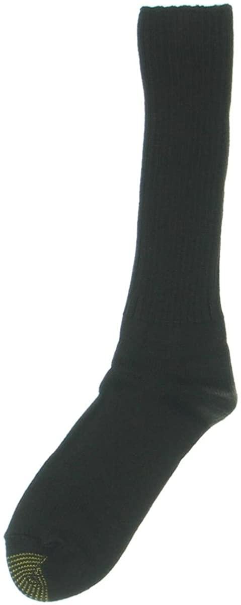 Goldtoe Premier Men's One Pair Scarborough Crew Socks Brown Size 10-13