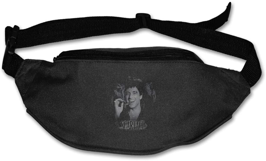 Hwxzviodfjg Scarface Opportunity Adjustable Running Belt Waist Pack Belt Fanny Pack Black