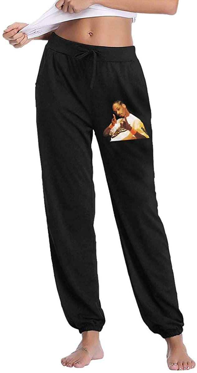 Wehoiweh Snoop Dogg Women's Fleece Inside, Moderate Feel, Slightly Elastic, Long Pants