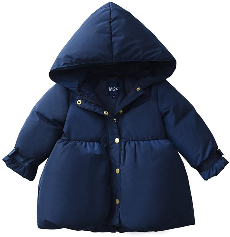 M2C Girls Warm Winter Down Puffer Jacket with Hood
