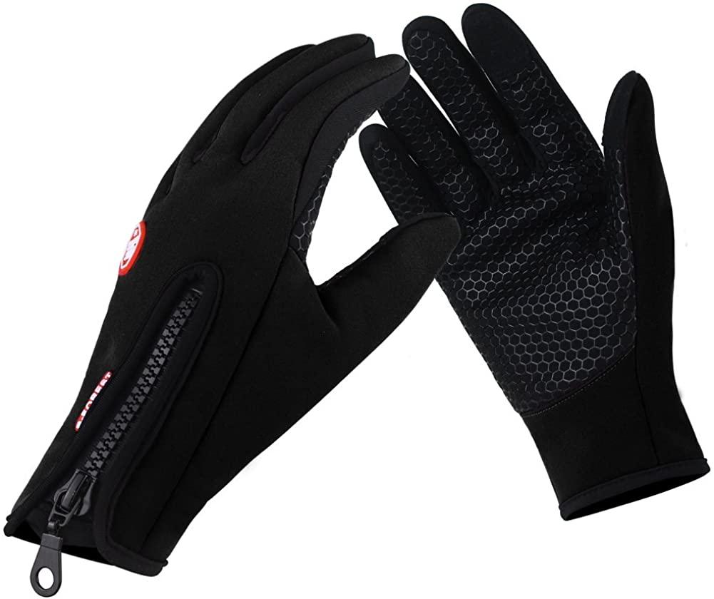 Unisex Winter Cycling Touch Screen Waterproof Windproof Gloves for Men & Women
