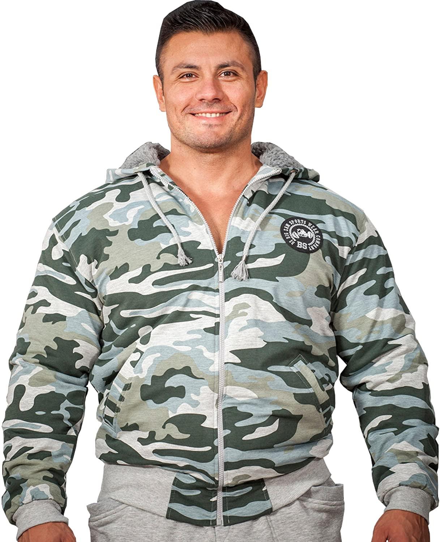 BIG SAM SPORTSWEAR COMPANY Bodybuilding Mens Jacket Winterjacket Coat Bomberjacket 4061