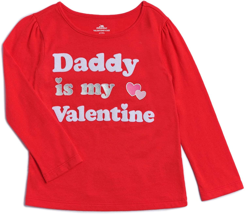 Way To Celebrate Little Girls' Toddler Daddy Valentine Tee Shirt