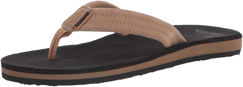 Quiksilver mens Flip Flop Sandal, Brown/Black/Brown, 10 US