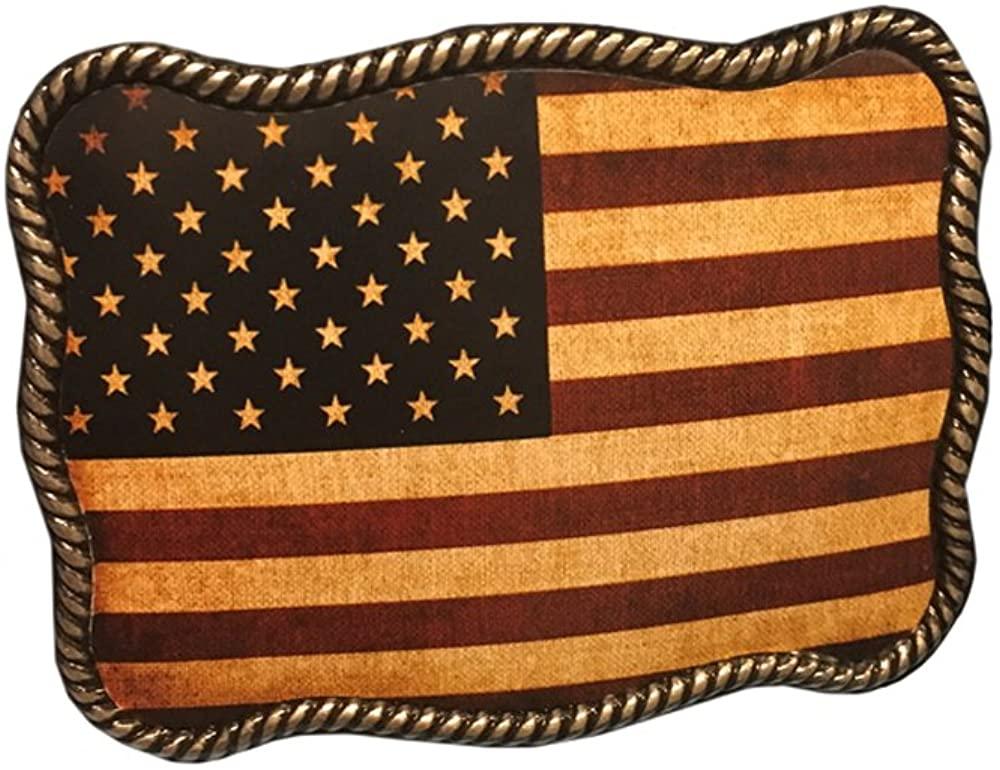 Nocona Men's American Flag Belt Buckle