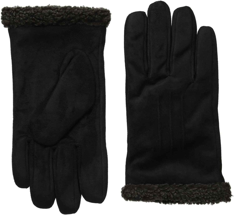 isotoner Men's Smartouch Microfiber Gloves with Berber Spill