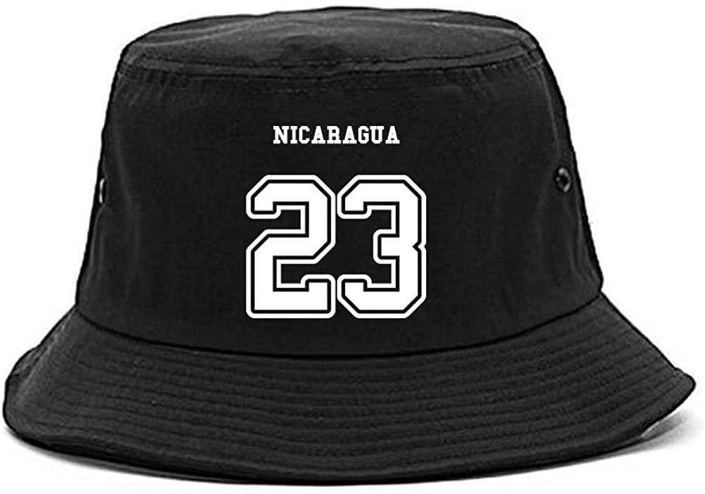Country of Nicaragua 23 Team Sport Style Jersey Bucket Hat