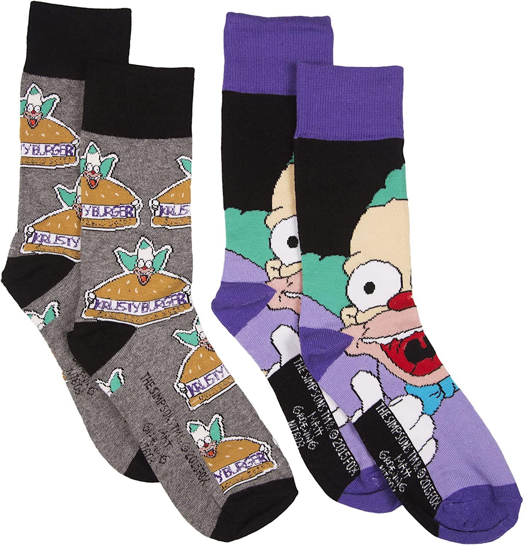 Mens 2pk Simpsons Krusty The Clown Socks