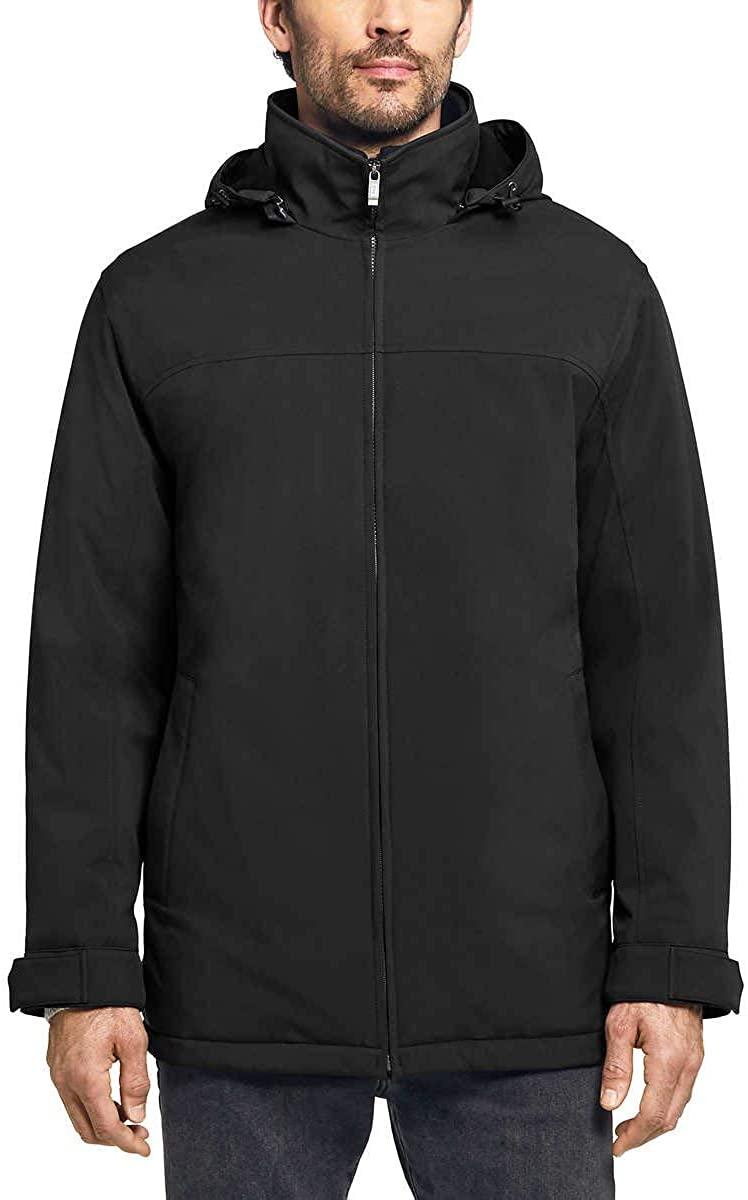 Weatherproof Men's Ultra Tech Men's Jacket Fleece Bib Removable Hood