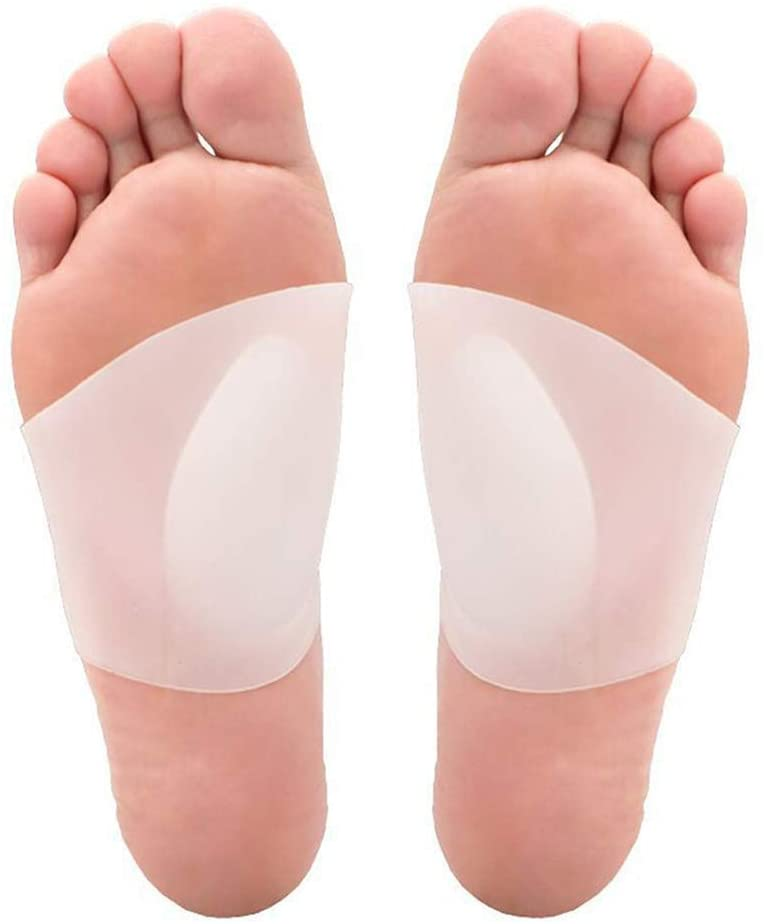 Gel-Arched Support for Soft Gel Sleeve Support and Pain Relief for Flat and Plantar Fasciitis - Female and Male Arch Support Pads. (3.9 * 3.5 * 1.57 inches)