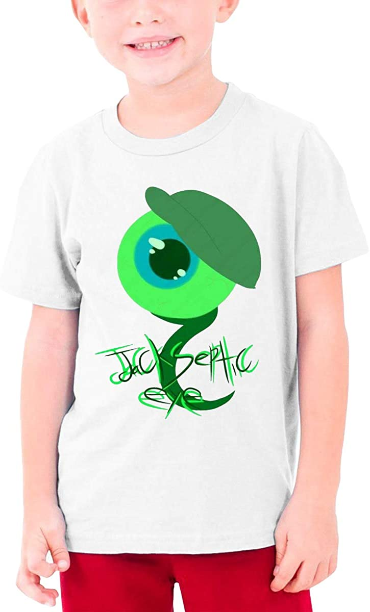 Boys and Girls Teens Short Sleeve T-Shirt Like A Boss (Jacksepticeye) Generous Eye-Catching Style White