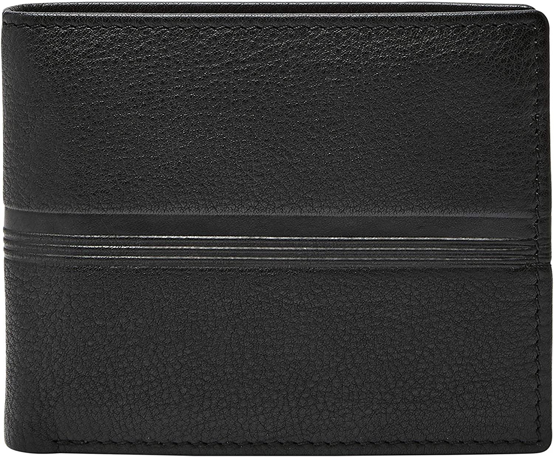 Fossil Men's Roger Leather Large Coin Pocket Bifold Wallet