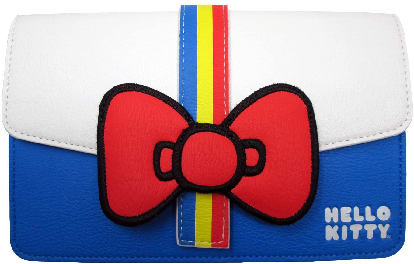 Loungefly x Hello Kitty 45th Anniversary Striped Waist Bag (One Size, Multicolored)