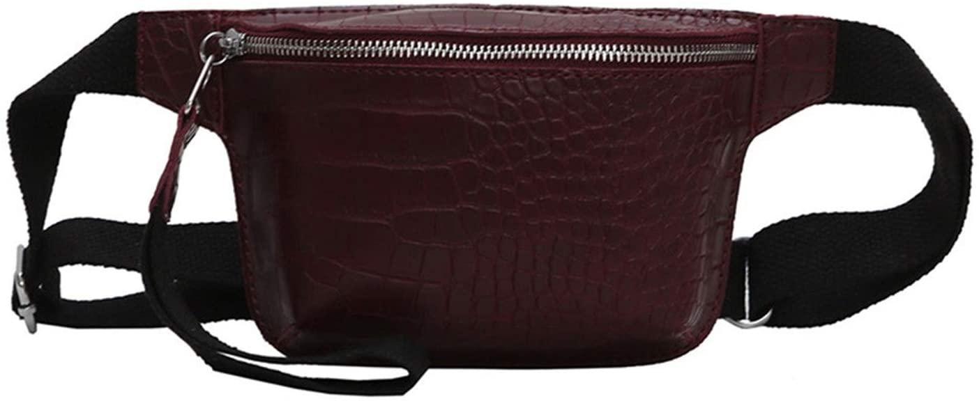 Chest Bag Women'S Crocodile Leather Multicolor Chest Bag Fashion Handbag,Wine