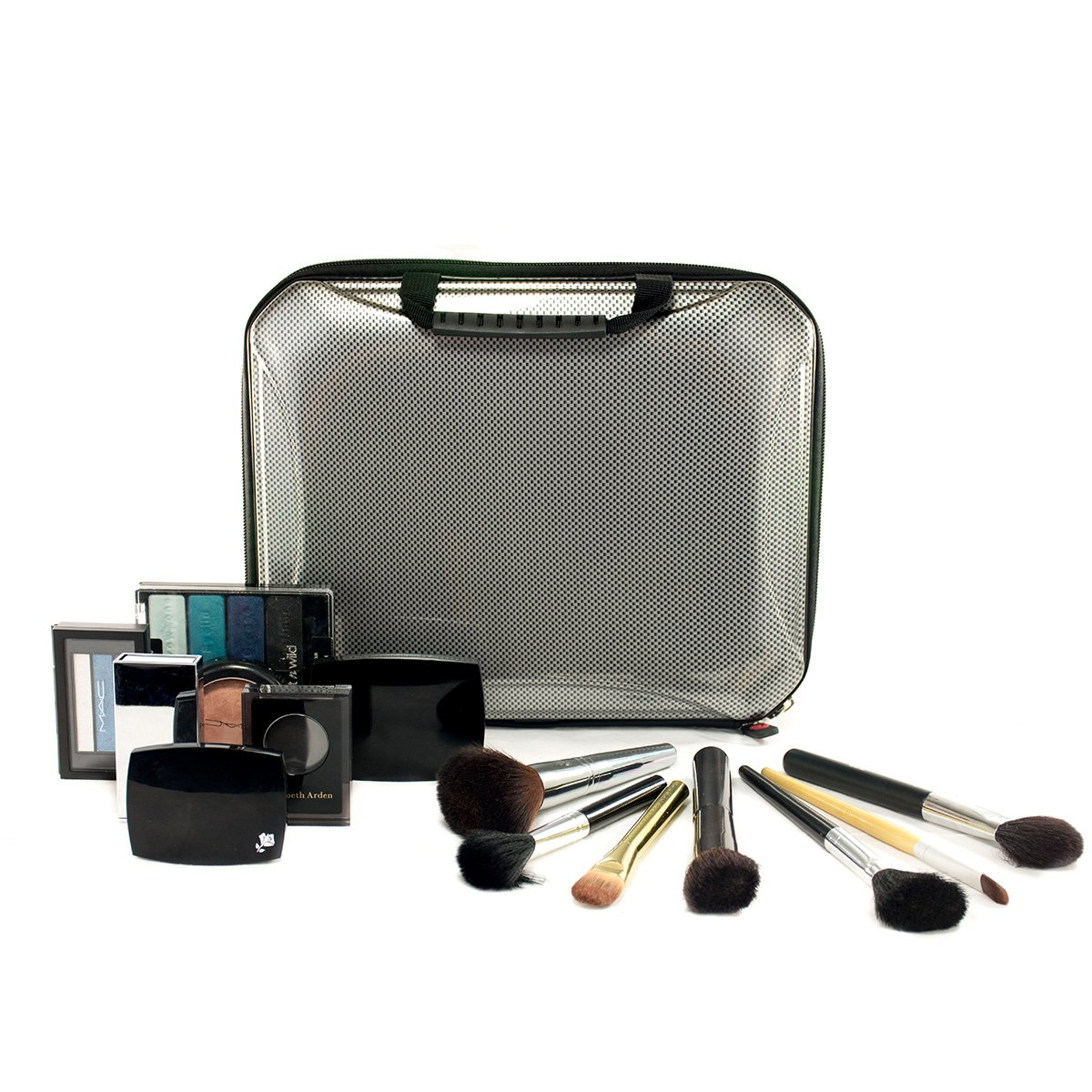 Cosmetic Hard shell protective case; Carbon Fiber make up and brush case