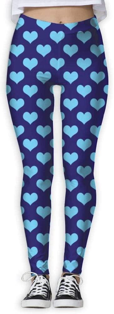 PIOL Womans Blue Love High Waist Skinny Leggings Yoga Jogger Sweatpants