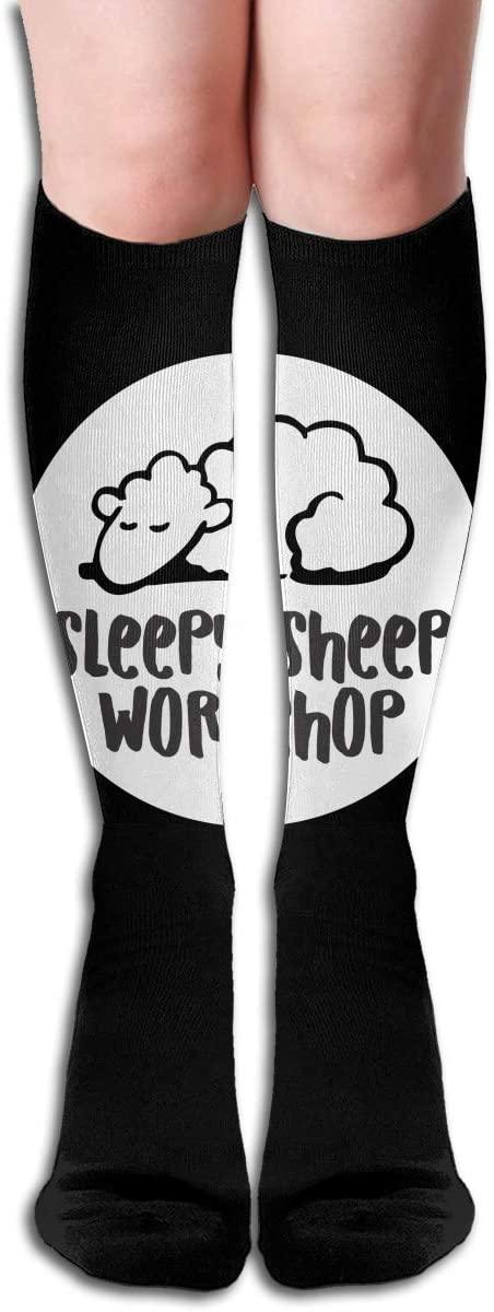 NarcNton Sheep High Socks Stockings Fashion Compression Socks Novelty Crew Athletic Socks Comfortable Long Socks