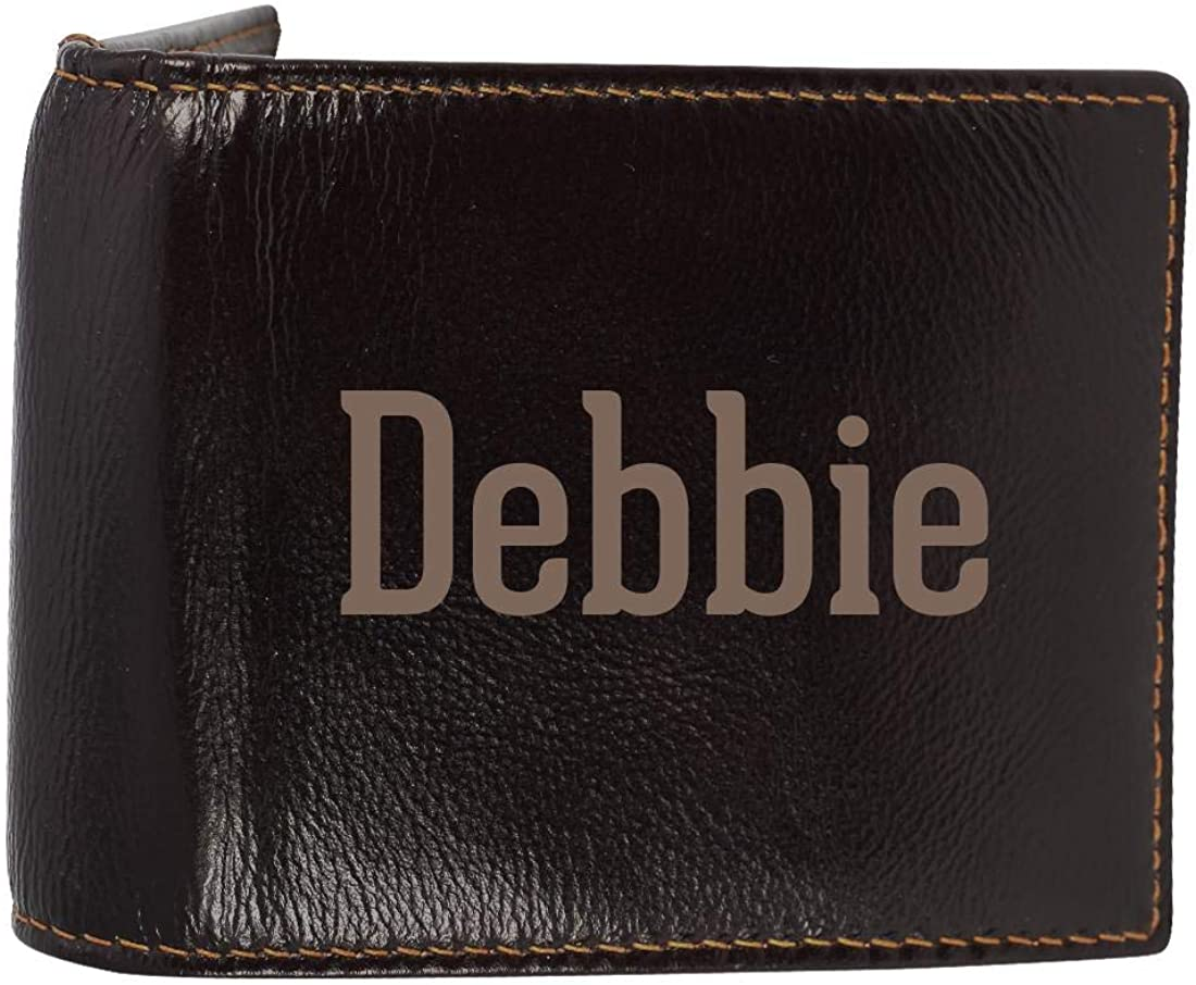 Debbie - Genuine Engraved First Name Soft Cowhide Bifold Leather Wallet