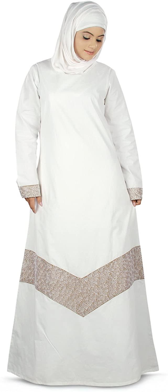 MyBatua Women's Samaira Hajj Prayer Abaya Online Islamic Clothing in White