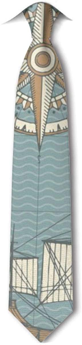 Sailboat Sea MenS Tie Hipster Leisure Neckties
