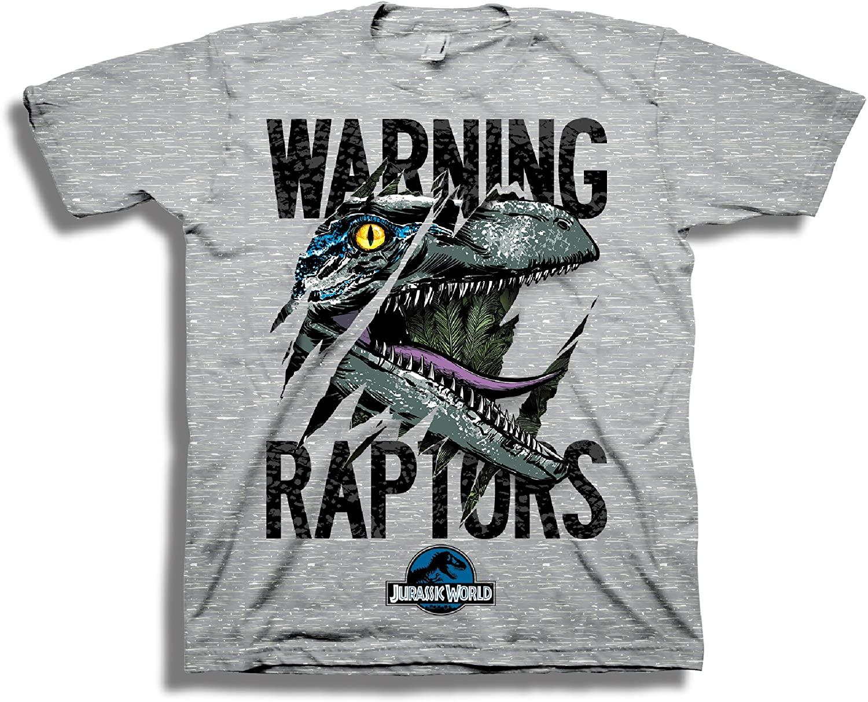 Jurassic World Boys 2 Warning Raptors Short Sleeve T-Shirt