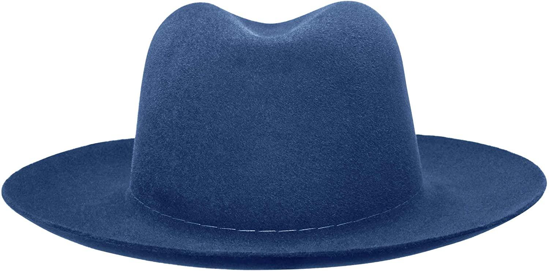Worth & Worth Nomad Mediterranean Blue Fur Felt Fedora Hat