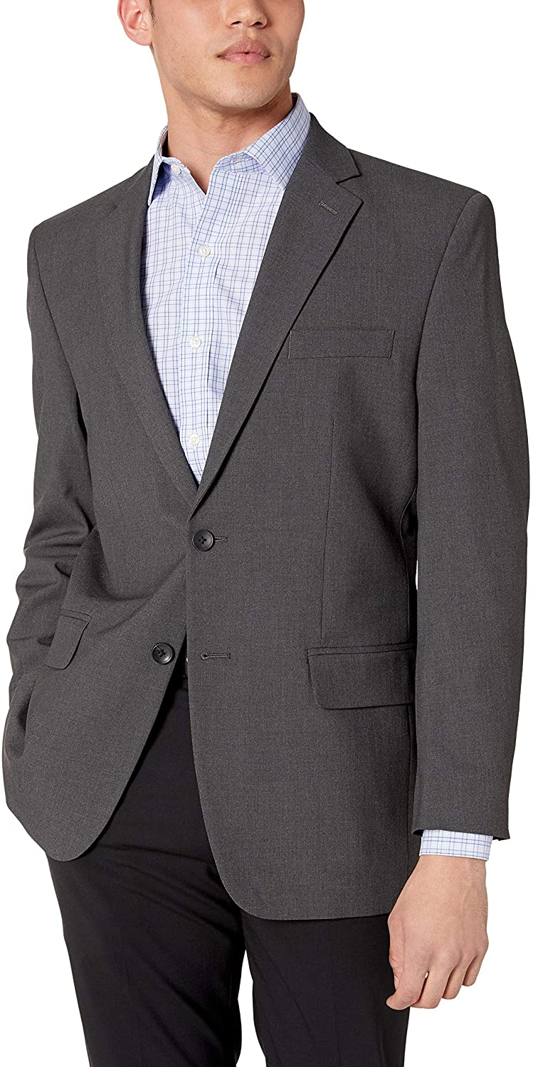 J.M. Haggar Men's 4-Way Stretch Solid Gab Classic Fit Suit Separate Coat