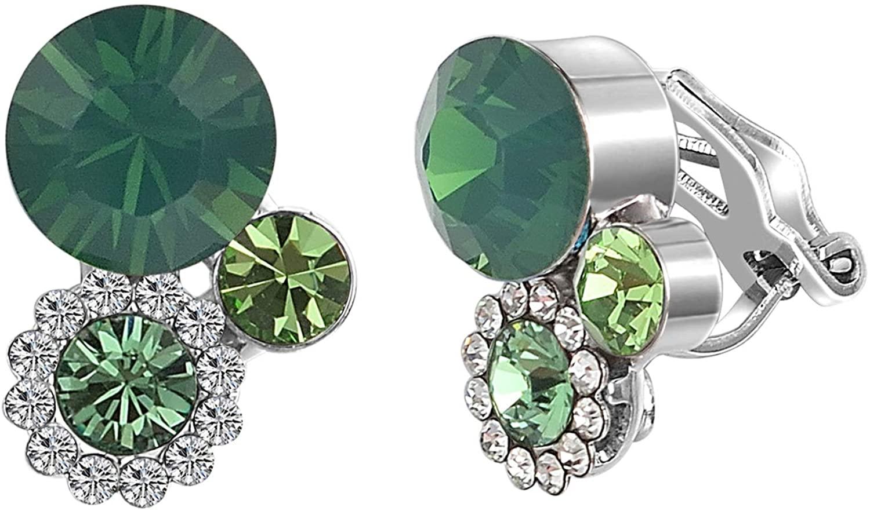 Yoursfs Clip on Earrings for Women Sparkly Crystal Elegant Cubic Zirconia Non Pierced Earrings/Pierceing Earrings