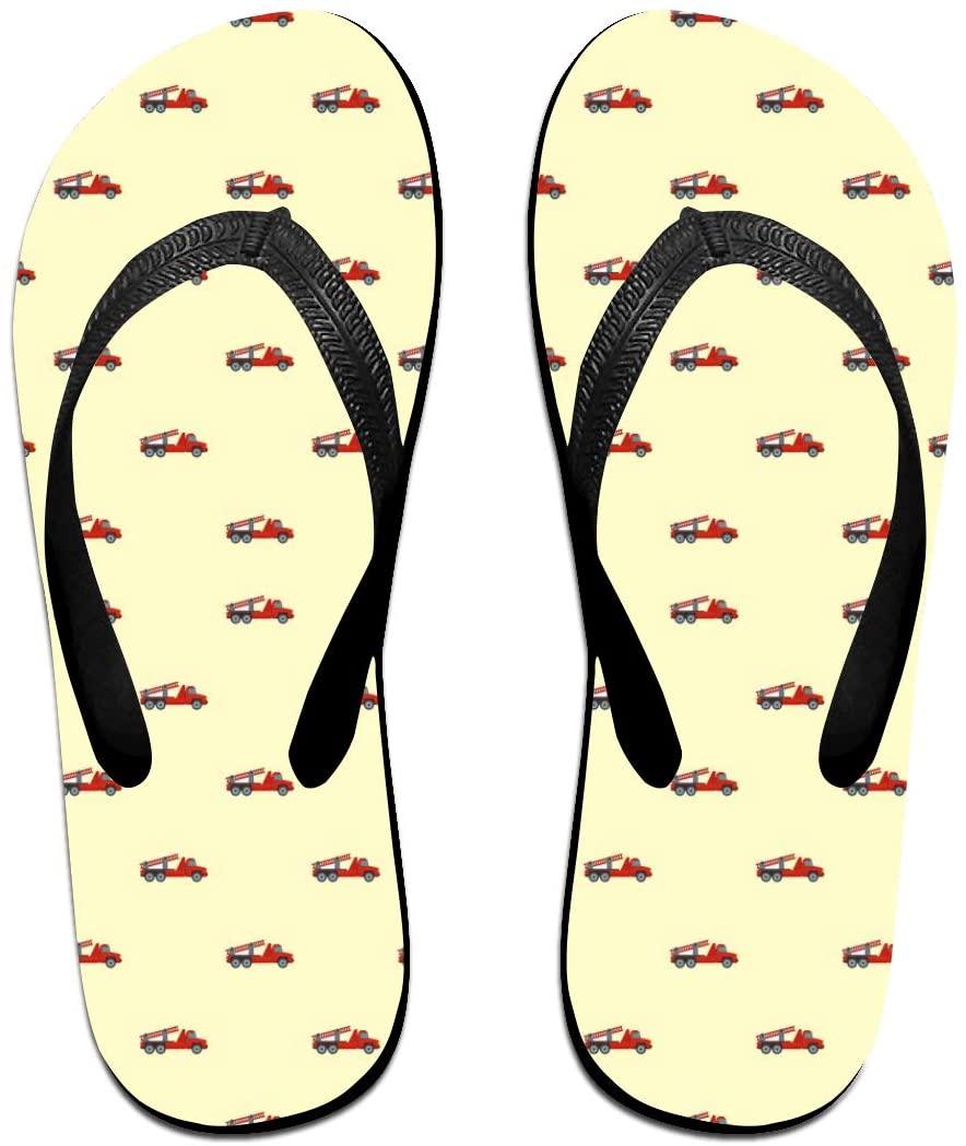 WAY.MAY Fire Engine Pattern Unisex Flip Flops Slippers Open Toe Beach Sandal