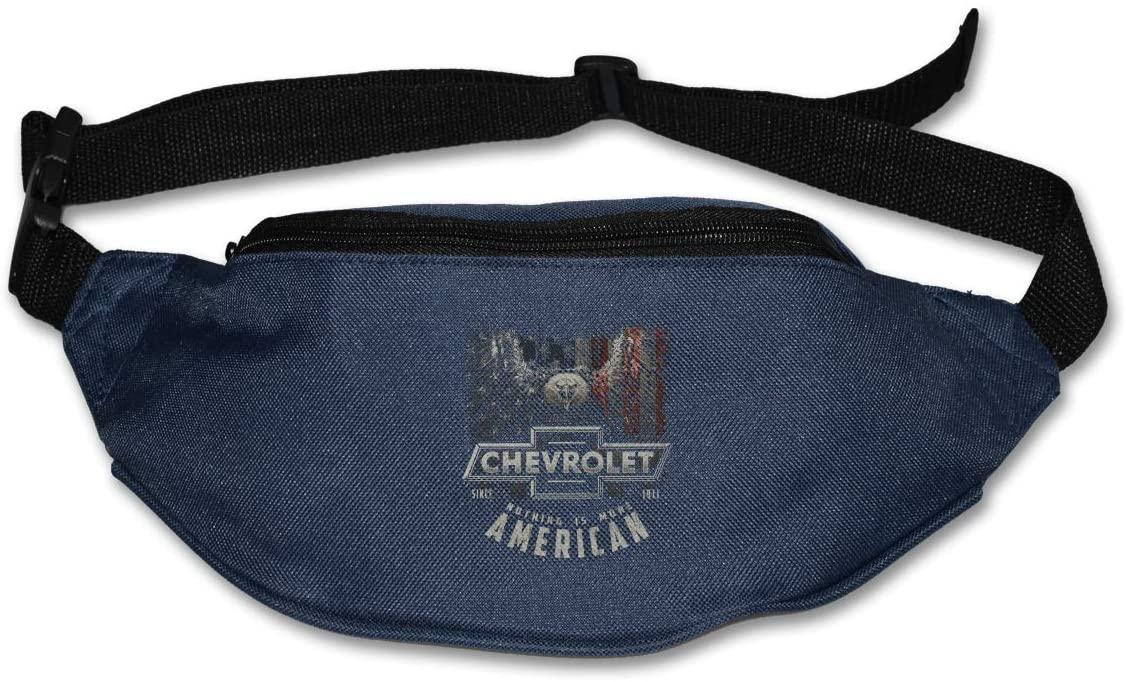 Sunlenvai Chevy More American Pack Runners Belt Fanny Pack Running Belt Waist Navy