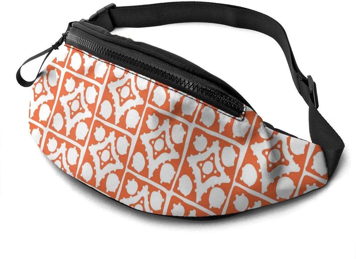 Spotty Diamond Fanny Pack for Men Women Waist Pack Bag with Headphone Jack and Zipper Pockets Adjustable Straps