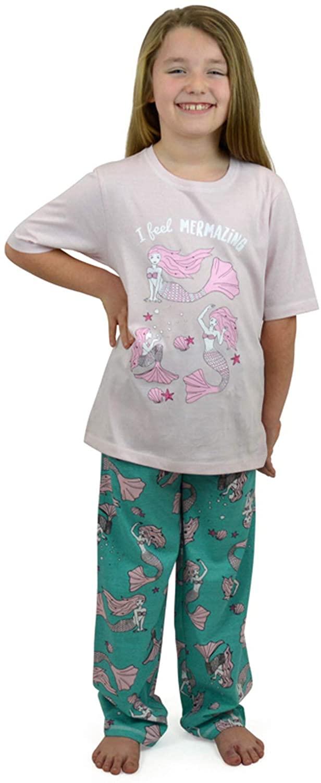 Lora Dora Girl's I Feel Mermazing Two Piece Pajama Set
