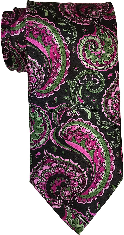 Italo Ferretti Satin Multicolored Paisley Print Tie